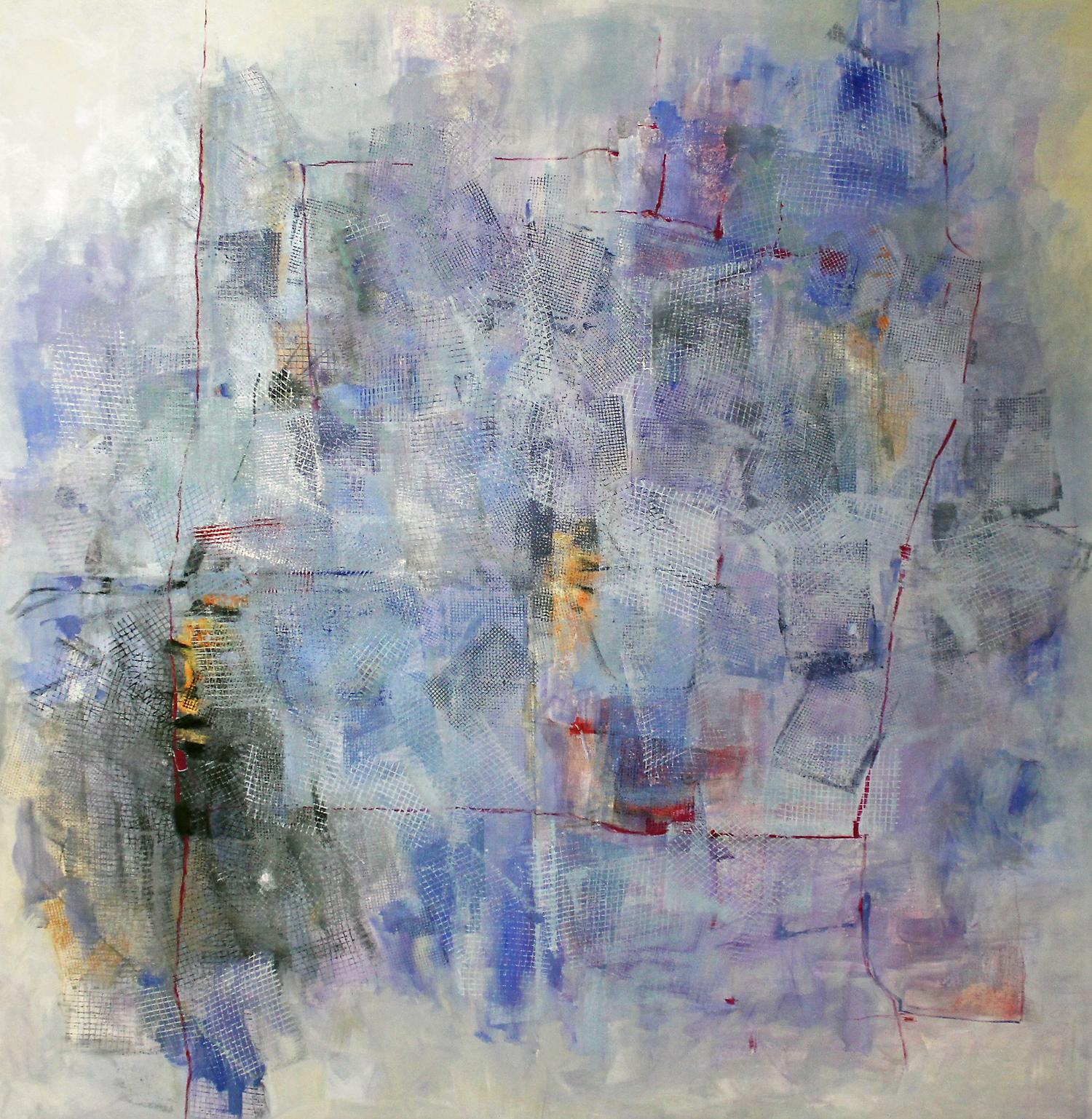 Contra el Cristal (190x190) Oleo-sobre-tela