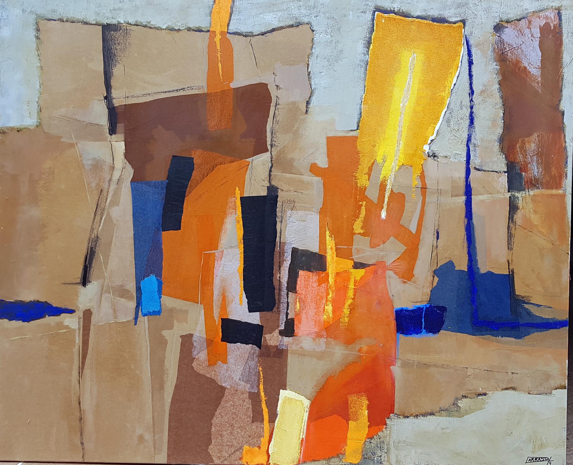 Desierto 03 (100x120) Óleo y collage sobre tela