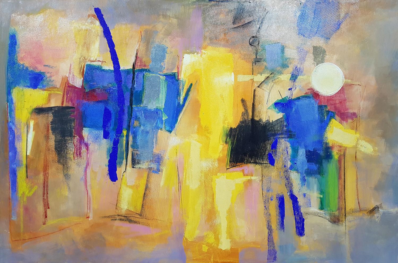 Desierto 04 (120x80) Óleo y collage sobre tela